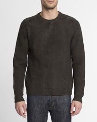 Sandro Khaki Round Neck Sweater