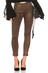 James Jeans Twiggy Ankle Glossed Skinny Bronze