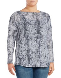 Vince Camuto Plus Long Sleeve Boatneck Top