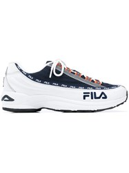 Fila Logo Lace Up Sneakers White