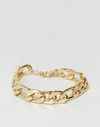 Asos Gold Plated Heavyweight Chain Bracelet Gold