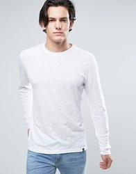 Solid Long Sleeve T Shirt In White White