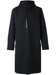 11 By Boris Bidjan Saberi Half Zip Raincoat Men Cotton Nylon Polyester M Black