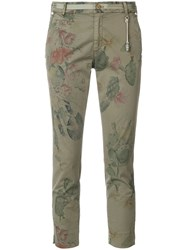 Mason Cactus Printed Cropped Trousers Green