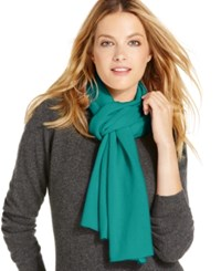 Charter Club Jersey Knit Cashmere Muffler Only At Macy's Mystic Teal