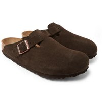 Birkenstock Boston Suede Sandals Brown