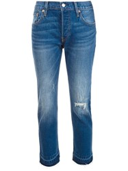Levi's Cropped Jeans Blue