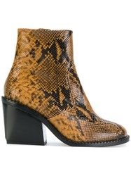 Robert Clergerie Mayan Boots Leather Brown