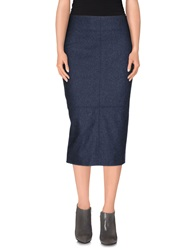 Au Jour Le Jour 3 4 Length Skirts Slate Blue