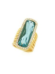 Cole Haan Colorful Crystal Embellished Ring Gold