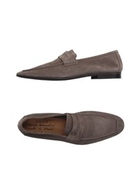 Grey Daniele Alessandrini Footwear Moccasins Men Light Brown