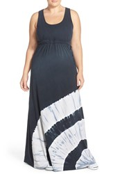 Plus Size Women's Hard Tail Tie Dye Racerback Maxi Dress