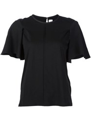 Victoria Beckham Wide Short Sleeve T Shirt Black