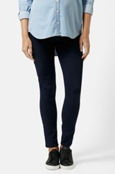 Topshop Moto 'Joni' Maternity Skinny Jeans Navy Regular And Short Blue