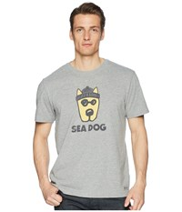 Life Is Good Rocket Sea Dog Crusher Tee Heather Gray T Shirt