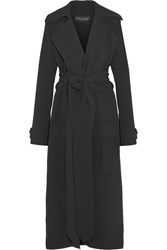 Michael Lo Sordo Crepe Trench Coat Black