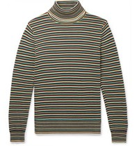 Sandro Striped Cotton Rollneck Sweater Multi