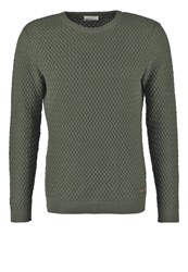 Knowledge Cotton Apparel Jumper Rifle Green Dark Green