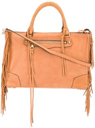 Rebecca Minkoff Large Fringed Tote Nude Neutrals