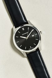 Wenger City Classic Leather Strap Watch Black