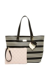 Betsey Johnson Iconic Patches Tote With Pouch White