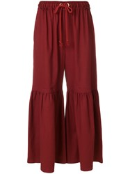 See By Chloe Moroccan Crepe Flared Trousers