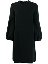 Gianluca Capannolo Flared Sleeves Dress Black