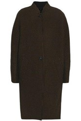 Rag And Bone Houndstooth Wool Cashmere Blend Coat Brown