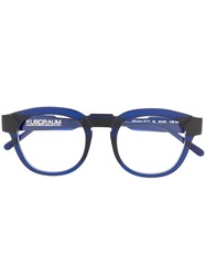 Kuboraum Two Toned Round Frame Glasses 60