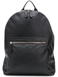 Eleventy Grained Backpack Brown