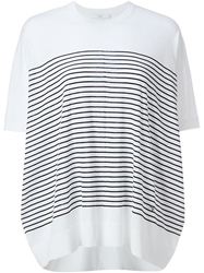 Astraet Loose Fit Striped T Shirt White