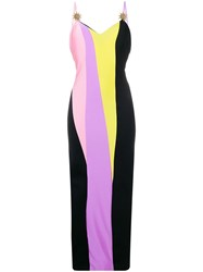 Fausto Puglisi Fitted Colour Block Dress Black