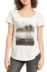 Rvca Women's Palm Reflection Graphic Tee Vintage White