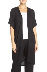 Midnight By Carole Hochman Women's Cocoon Wrap Black