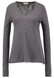 American Vintage Long Sleeved Top Anthracite Chine