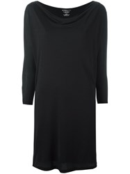 Majestic Filatures Longsleeved Fitted Dress Black