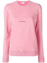 Saint Laurent Logo Sweatshirt Pink