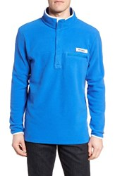 Columbia Men's Pfg Harborside Fleece Pullover Vivid Blue White