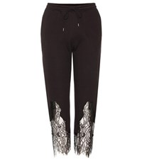 Mcq By Alexander Mcqueen Lace Trimmed Track Pants Black