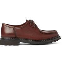 Heschung Thuya Leather Derby Shoes Chocolate
