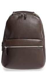 Shinola Men's 'Runwell' Leather Laptop Backpack Brown Deep Brown