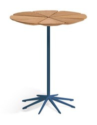 Knoll Petal End Table Blue White High Density Polyurethane W Multicolor