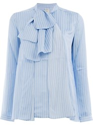 Maison Rabih Kayrouz Striped Blouse Blue