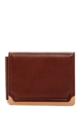 Trafalgar Two Tone Triple Flip Leather Wallet And Clip Brown