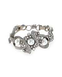 Rhodium Plated Chunky Bracelet Jose And Maria Barrera Silver