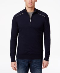 Barbour Men's Quarter Zip Lightweight Sweater Navy