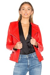 Nour Hammour Erin Jacket Red