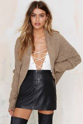 Nasty Gal Glamorous Knit A Love Song Ribbed Cardigan