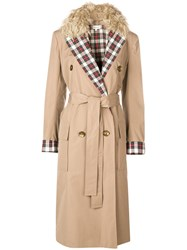 Isa Arfen Fitted Trench Coat Nude And Neutrals