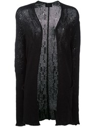 Lost And Found Ria Dunn Elongated Sleeves Open Cardigan Black